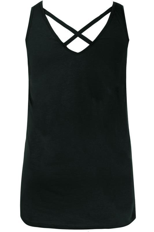 Black Cross Back Vest Top