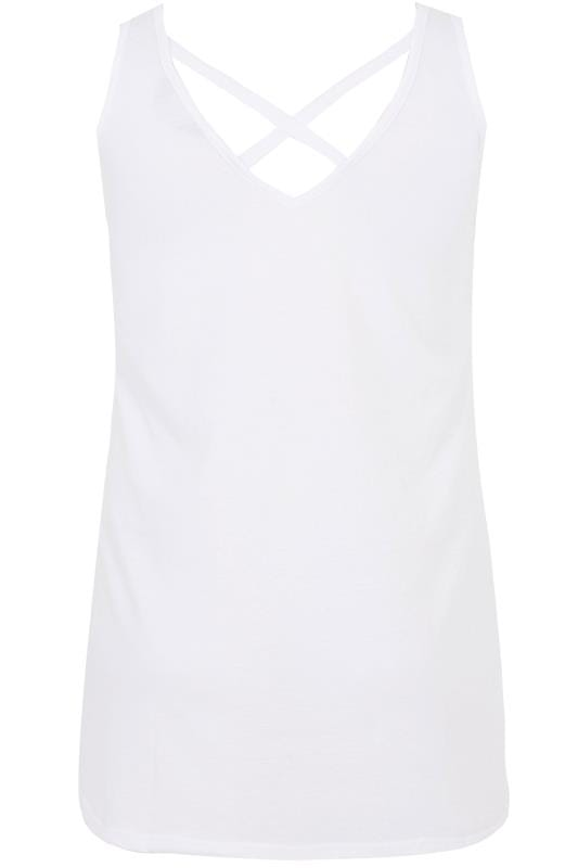 White Cross Back Vest Top