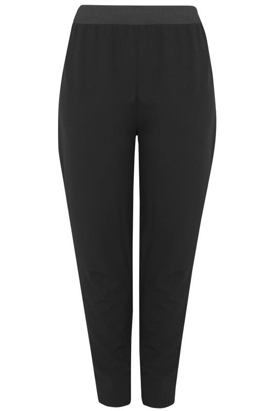 YOURS LONDON Black Tapered Trousers