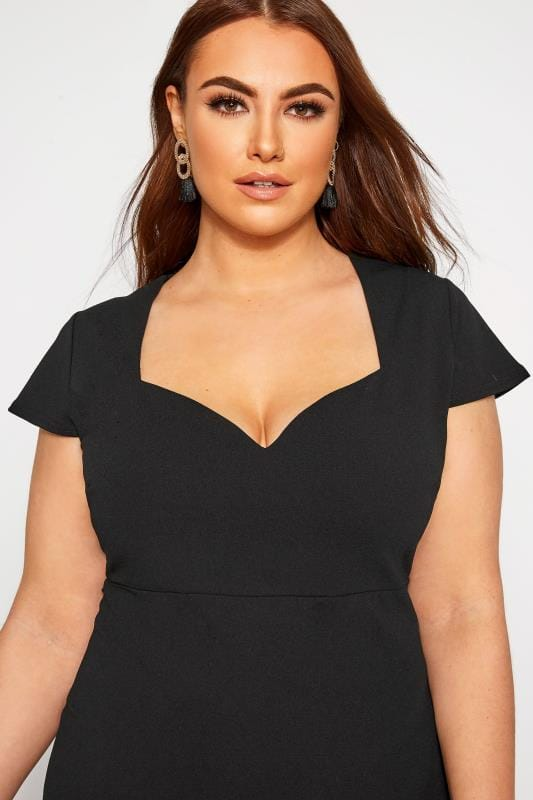 YOURS LONDON Black Fishtail Scuba Dress