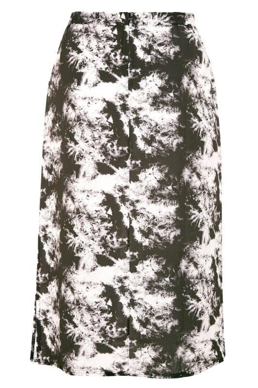 YOURS LONDON Black Tie Dye Print Maxi Skirt