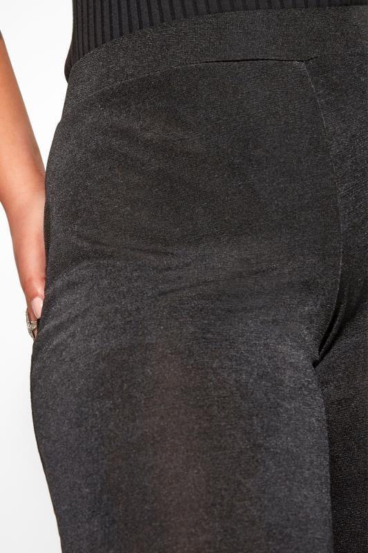 YOURS LONDON Black Slinky Wide Leg Trousers