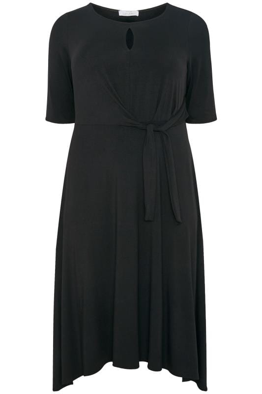 YOURS LONDON Black Tie Front Dress