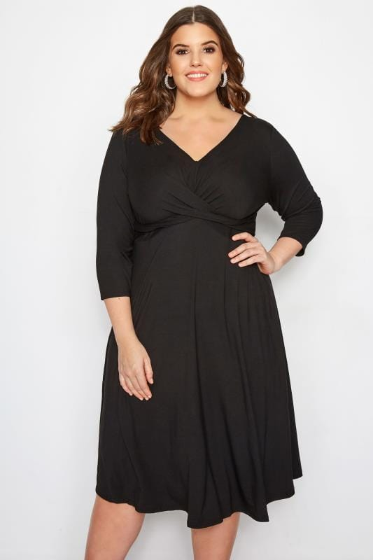 YOURS LONDON Black Twist Dress