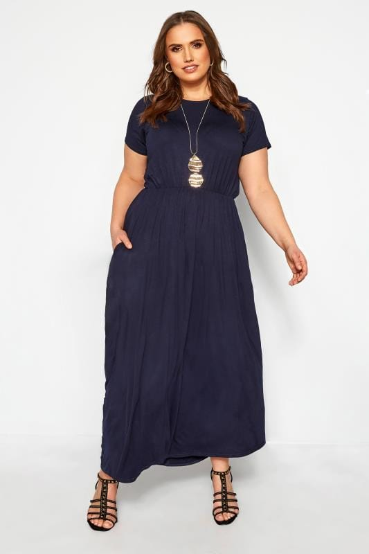 YOURS LONDON Navy Pocket Maxi Dress