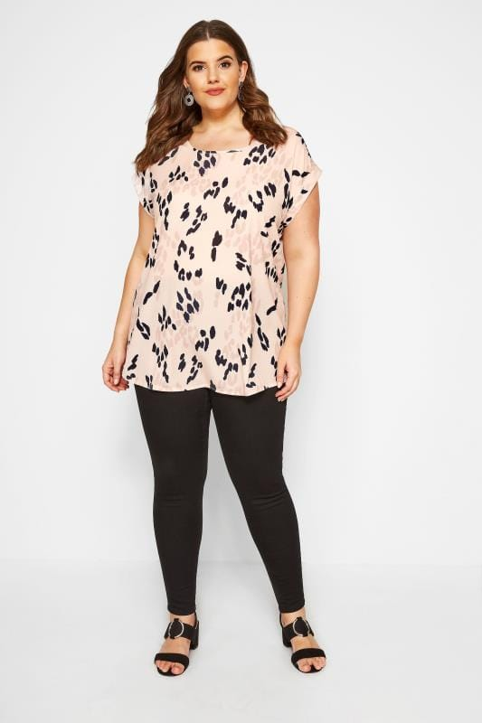 YOURS LONDON Pink Animal Print Shell Top