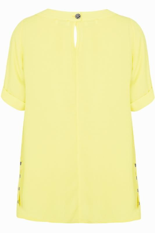 YOURS LONDON Yellow Button Side Blouse