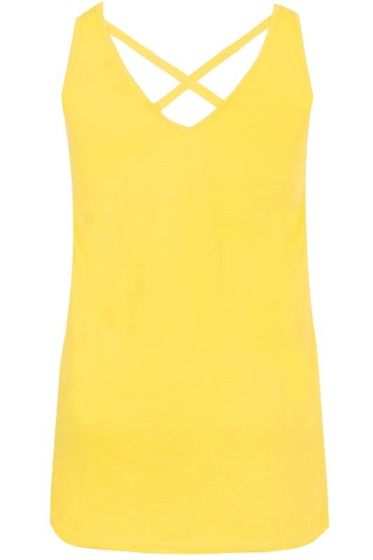 Yellow Cross Back Vest