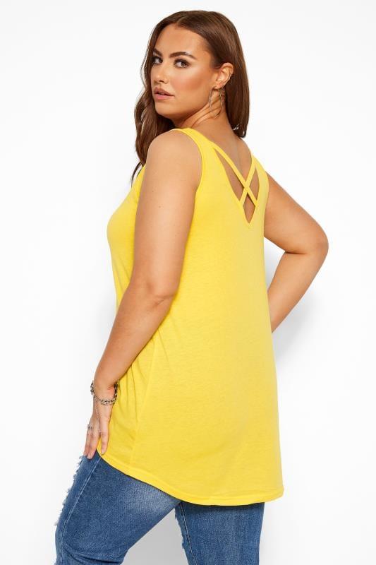 Yellow Cross Back Vest Top