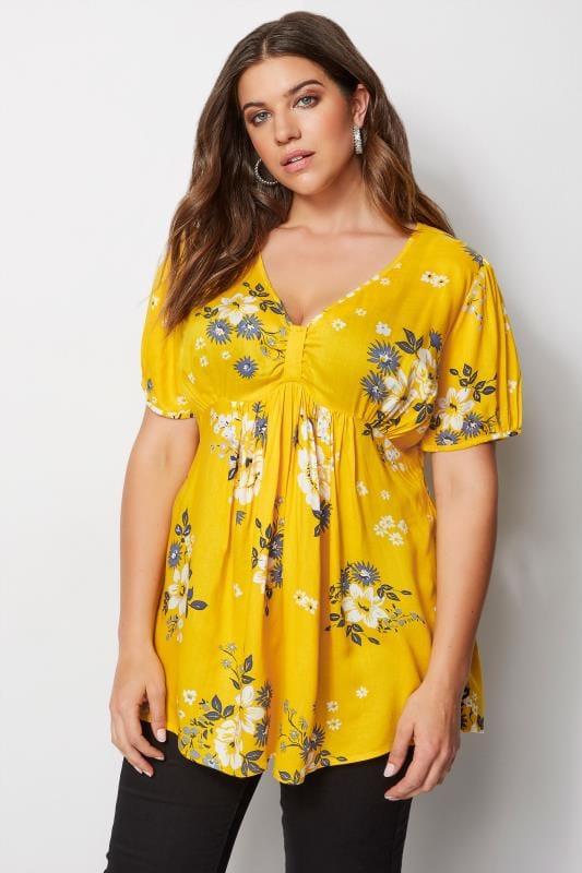 Yellow Floral Tea Blouse
