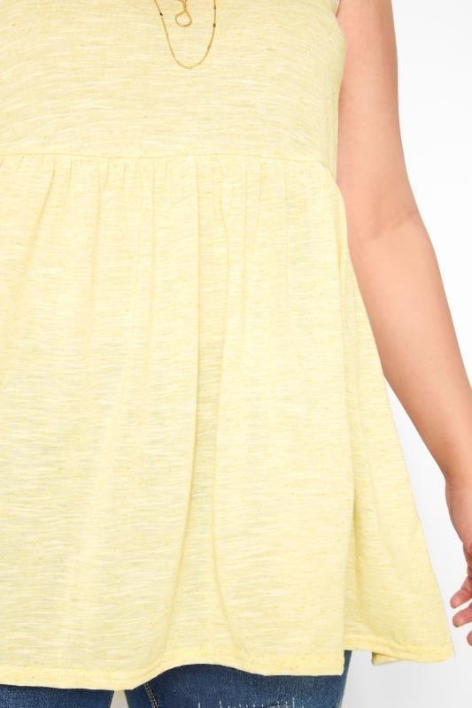 Yellow Marl Peplum Vest Top