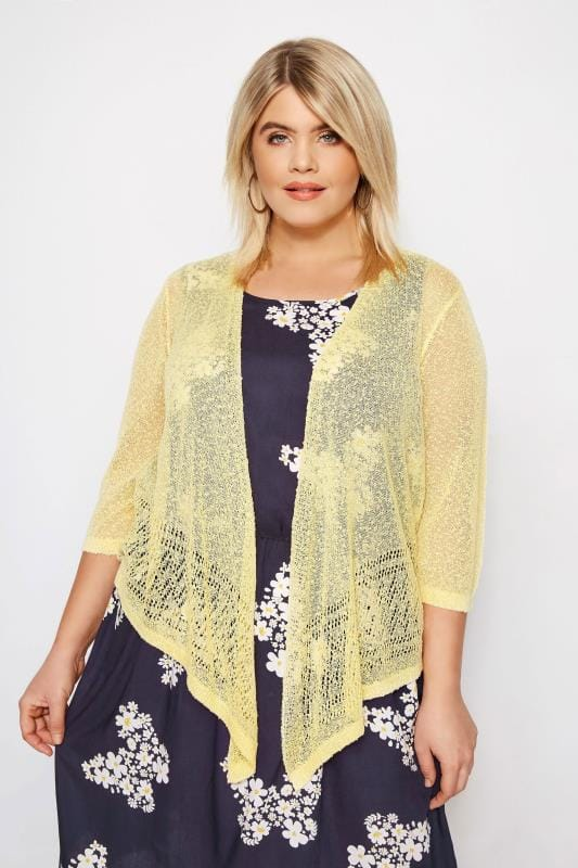 Yellow Popcorn Cropped Shrug