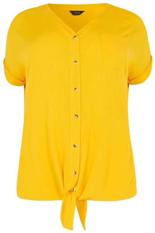 Yellow Tie Front Shirt