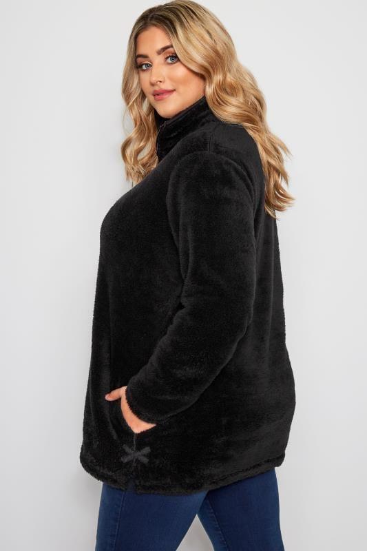 Fleece mit Reißverschluss - Schwarz