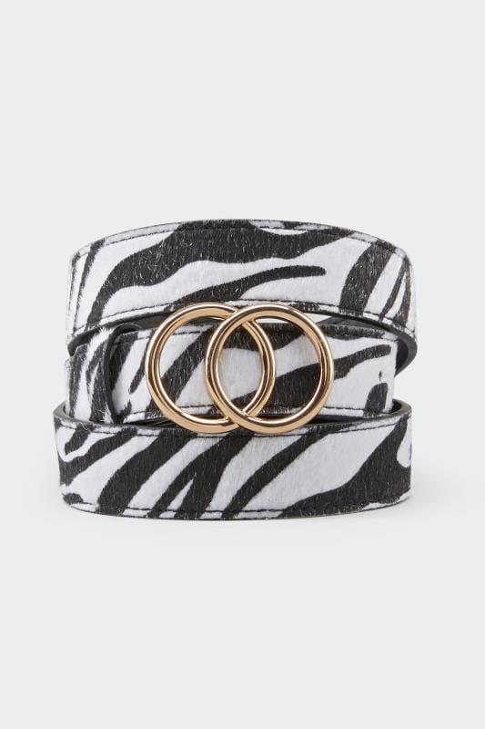 Zebra Double Circle Belt