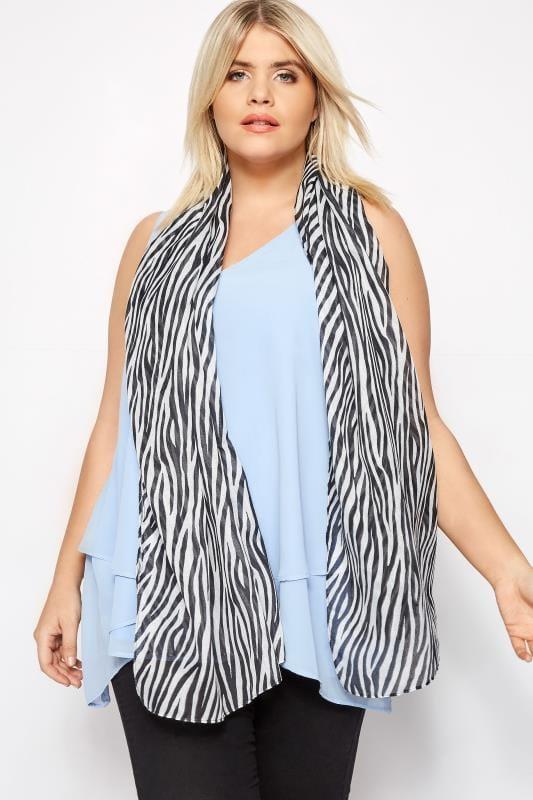 Plus Size Scarves Zebra Print Scarf