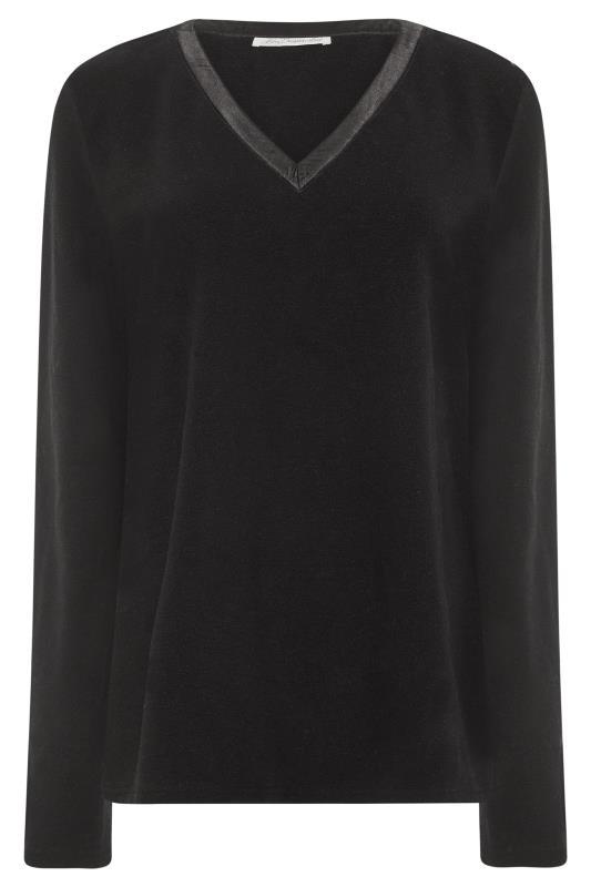 Tall Sweatshirts & Hoodies LONG ELEGANT LEGS Black Fleece Top