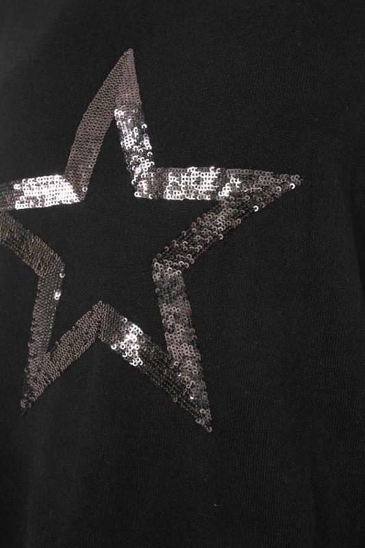 LTS Black Sequin Star Soft Touch Top_S.jpg
