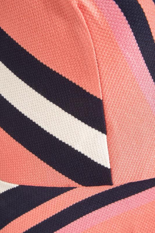 Pink Stripe Wrap Skater Dress_S.jpg