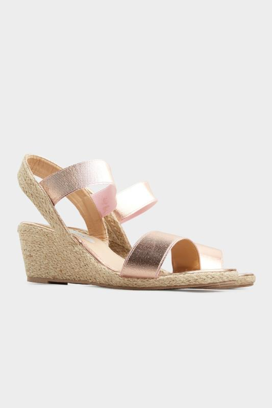 Rose Gold Espadrille Wedge Sandals In Wide Fit_B.jpg