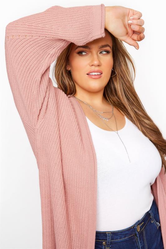Dusky Pink Knitted Pointelle Cardigan_D.jpg