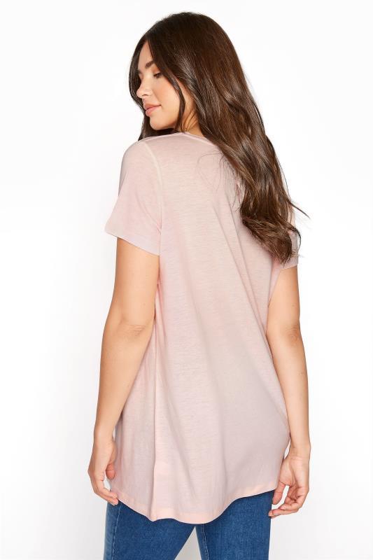 LTS Pink Linen Blend V-Neck T-Shirt_C.jpg