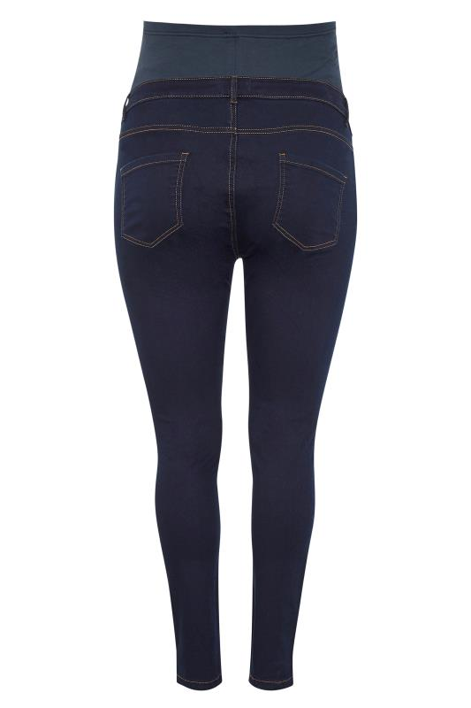 BUMP IT UP MATERNITY Indigo Blue Skinny Jeans With Comfort Panel