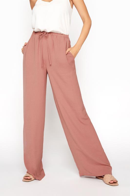 LTS Pink Wide Leg Twill Trousers_B.jpg