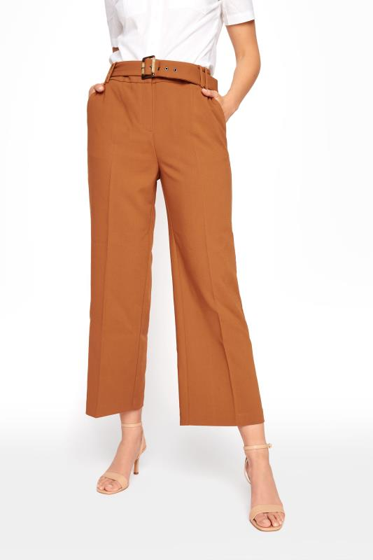 Brown Belted Culotte Trousers
