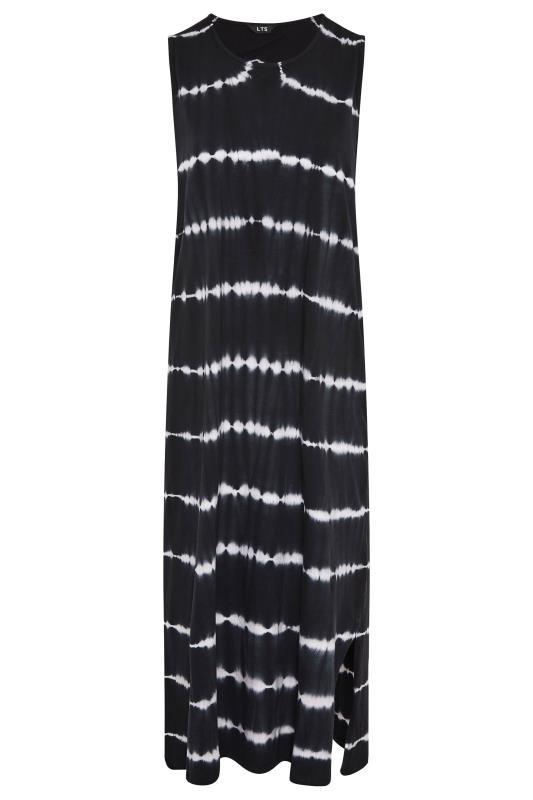 LTS Black Tie Dye Side Splits Maxi Dress_F.jpg