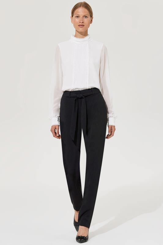 Tall Trousers Karl Lagerfeld Paris Tie Waist Tapered Leg Trouser