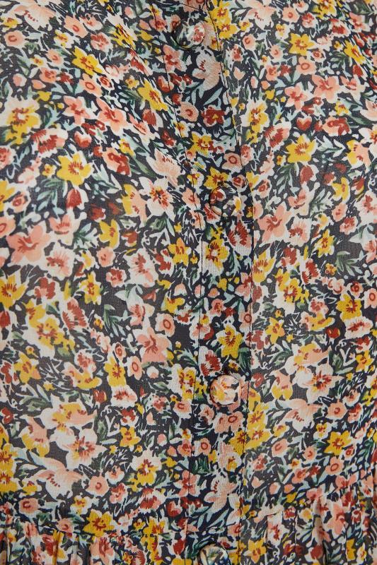 Navy Ditsy Peplum Shirt_S.jpg