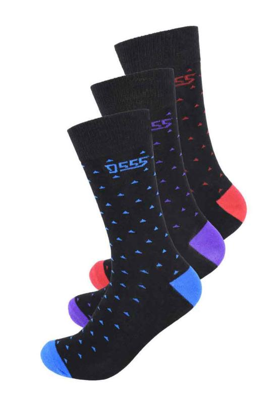 Men's  D555 Black Bolt Socks