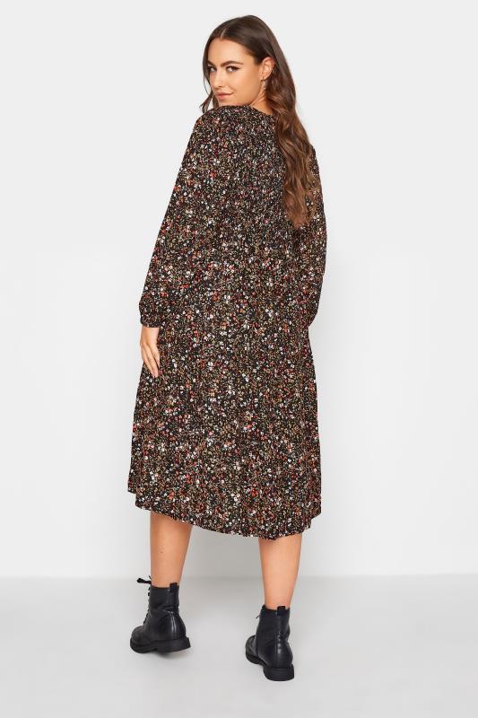 Black Floral Shirred Midaxi Dress_C.jpg