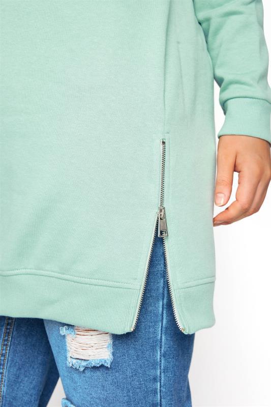 Super Soft Hand Feel Green Side Zip Sweatshirt_E.jpg