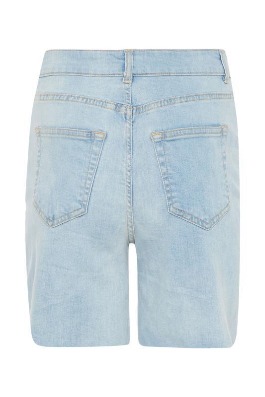 LTS Bleach Blue Cut Off Ripped Denim Shorts_bk.jpg