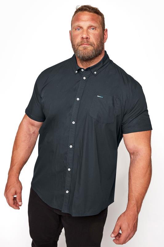 BadRhino Navy Essential Short Sleeve Oxford Shirt_M.jpg