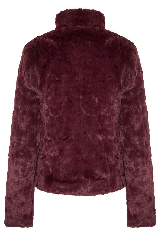 Burgundy Faux Fur Jacket