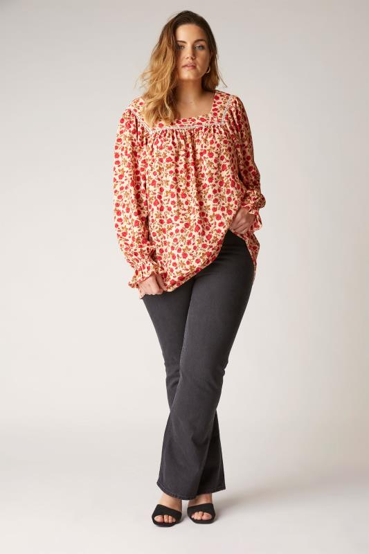 THE LIMITED EDIT Natural Square Neck Blossom Blouse_B.jpg