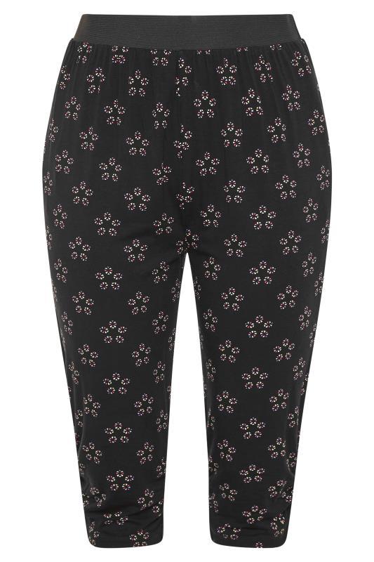 Black Daisy Geometric Crop Harem Trousers_F.jpg