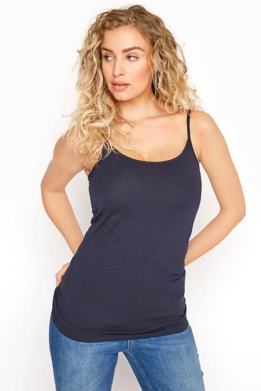 LTS Navy Cotton Stretch Cami