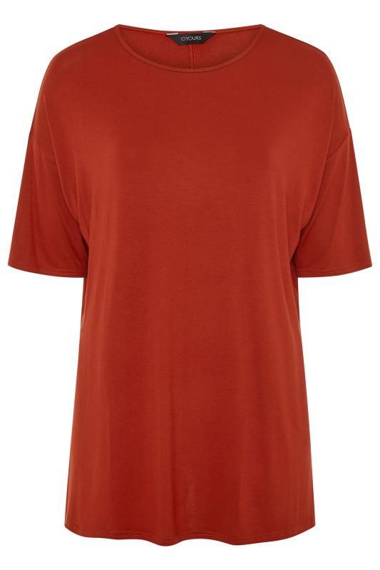 Chestnut Brown Jersey Oversized T-Shirt