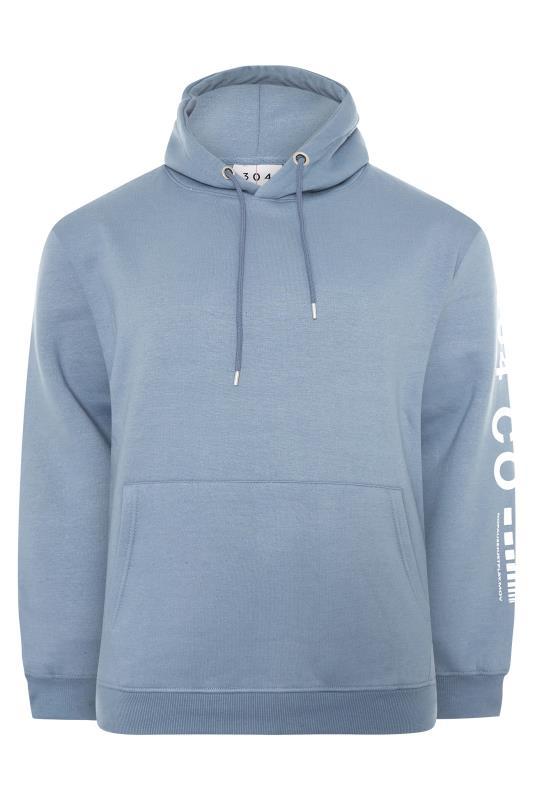Großen Größen  304 CLOTHING Blue Logo Sleeve Hoodie
