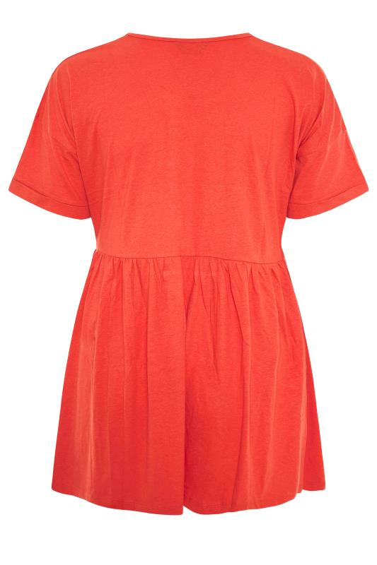 Orange Peplum Drop Shoulder Top_BK.jpg