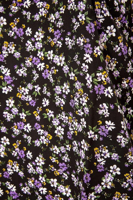 Black Ditsy Print Tie Neck Blouse_S.jpg