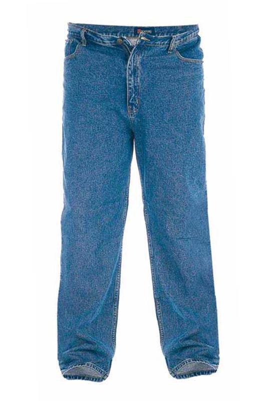 Plus Size  D555 Blue Comfort Fit Jeans