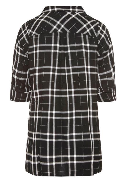 Black Check Print Overhead Shirt_BK.jpg