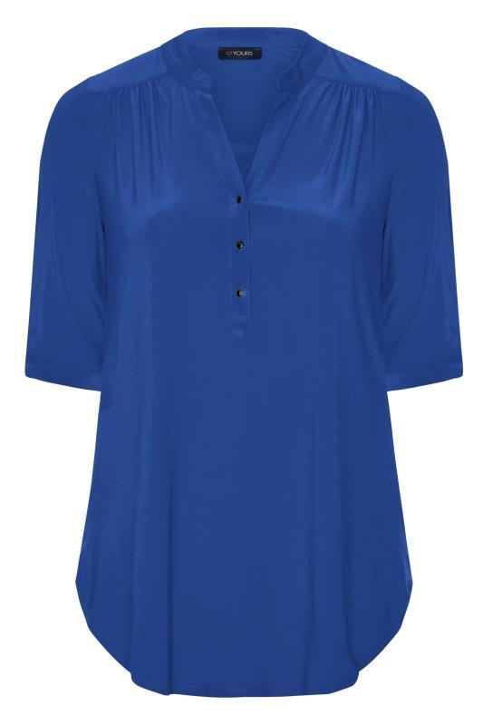 Cobalt Blue Slinky Jersey Shirt