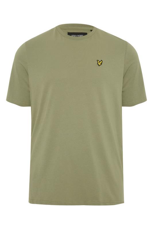 Men's  LYLE & SCOTT Moss Green Crew Neck T-Shirt