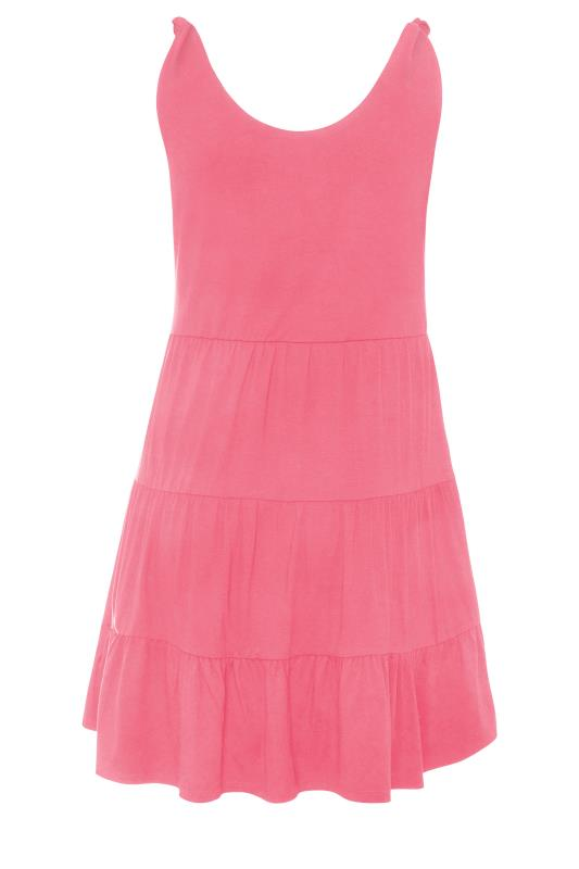 LIMITED COLLECTION Pink Tiered Jersey Dress_BK.jpg